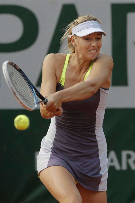 Maria Sharapova - During match at the French Open-04