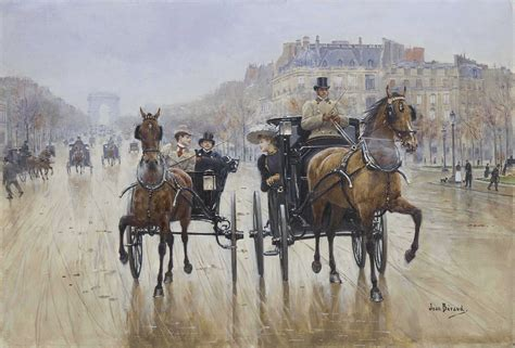 Jean Béraud (French, 1849-1936) , Rond-Point des Champs