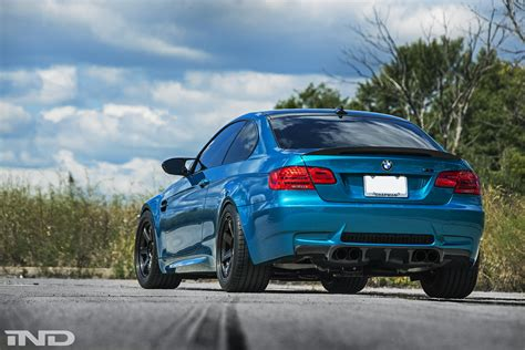 Atlantis Blue BMW E92 M3 from iND Looks Stunning
