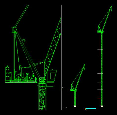 Luffing Tower Crane DWG Block for AutoCAD • Designs CAD