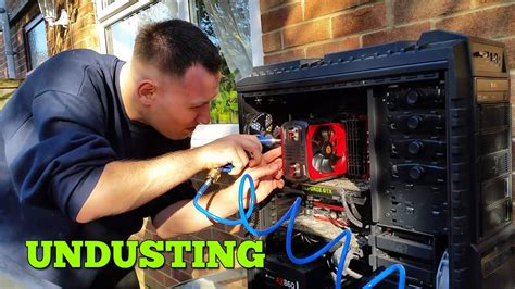 PC UNDUSTING - Best way to clean PC - Air Compressor - YouTube