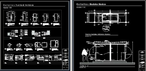 Kiosk modules in a shopping center in AutoCAD   CAD (75