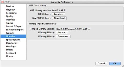 Audacity can't find LAME library, I can't save Mp3? - Ask